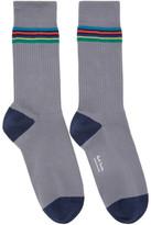 Paul Smith Grey Duo Rib Socks