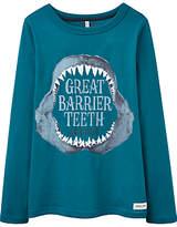 Joules Little Joule Boys' Finlay Barrier Teeth T-Shirt, Blue