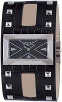 Exte Women's EX.4017M/01 Black Calfskin Band watch.
