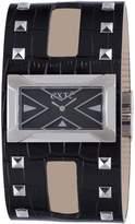 Exte Women's EX.4017M/01 Black Calfskin Band watch.