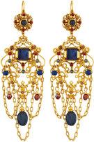 Jose & Maria Barrera Golden Sodalite, Carnelian & Jade Chandelier Earrings