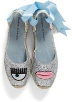 Chiara Ferragni Women's Flirting Lips Espadrille Sandal
