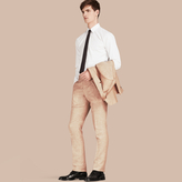 Burberry Modern Fit Linen Trousers