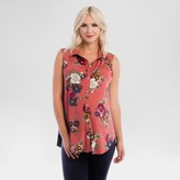 Expected by Lilac Maternity Floral Print Button Down Top