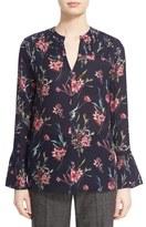 Nordstrom Women's Floral Print Silk Blouse