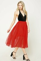 Forever 21 FOREVER 21+ Pleated Tulle Skirt