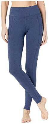 Pact Organic Cotton Pocket Leggings (Navy Heather) Women's Casual Pants