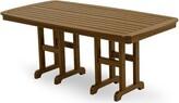 "Polywoodâ® Nautical Plastic Dining Table POLYWOODA Color: Dark Teak, Table Size: 29"" H x 71.5"" L x 36.75"" W"