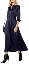 Karen Millen Satin Midi Shirt Dress