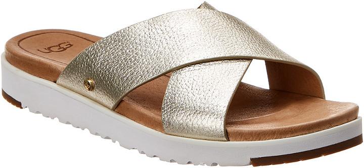 d9d98ffb6c9 Kari Metallic Leather Sandal