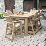 "Sol 72 Outdoor Anette 7 Piece Dining Set Sol 72 Outdoor Color: Tuscan Taupe, Table Size: 36"" H x 72"" W x 42"" D"