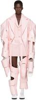 Comme des Garcons Pink Cut-Out Vinyl Suit