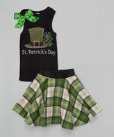 Beary Basics Black 'St Patrick's Day' Tank & Skirt - Toddler & Girls