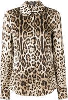 Dolce & Gabbana leopard print shirt - women - Silk - 40