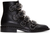 Givenchy Black Studded Buckle Boots