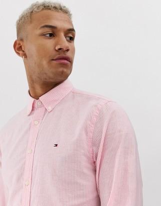 Tommy Hilfiger cotton linen stripe shirt