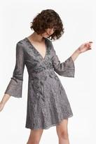 French Connection Esme Shimmer V Neck Floral Dress