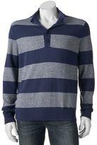 Izod Men's Regular-Fit Rugby-Striped Mockneck Sweater