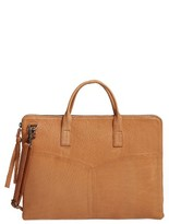 Day & Mood Vera Leather Laptop Bag - Black