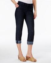 NYDJ Dayla Tummy Control Embroidered Capri Jeans