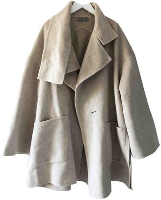 Vince Beige Wool Coat for Women