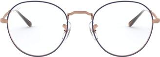 Ray-Ban Unisex's Rx3582v Round Metal Eyeglass Frames Prescription Eyewear