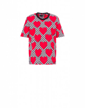 Love Moschino Hearts Jersey T-shirt Woman Multicoloured Size 38 It - (4 Us)