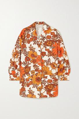 Dodo Bar Or Lenny Floral-print Cotton Shirt - Orange