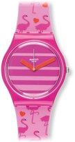 Swatch Women's Originals GP144 Silicone Swiss Quartz Watch