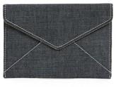Rebecca Minkoff Leo Denim Envelope Clutch - Blue