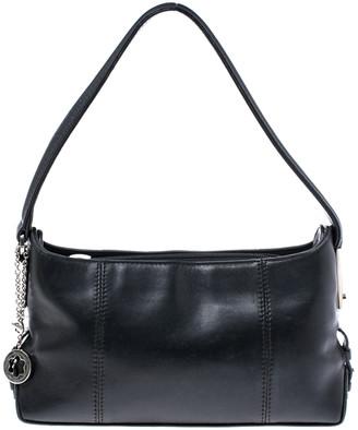 Montblanc Mont Blanc Black Leather Top Zip Shoulder Bag