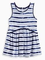 Splendid Little Girl Indigo TieDye Stripe Swing Dress