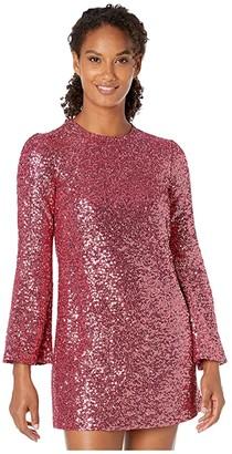 Jill by Jill Stuart All Over Sequin Tunic Dress (Wild Rose) Women's Clothing