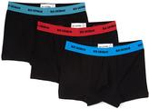 Ben Sherman Black Solid Boxer Briefs - Set of Three