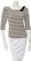 Sandro Striped Bateau Top