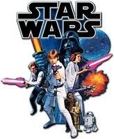 """Star Wars Silver Buffalo SW4406 Disney Episode 4 Die Cut Wood Wall Art, 15in x 10.5"""""""