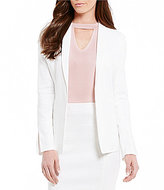 Antonio Melani Shawn Stretch Linen Shawl Collar Jacket