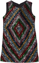 Milly Girl's Rainbow Stripe Sequin Mitered Dress, Size 7-16