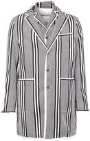 Moncler Gamme Bleu striped short coat