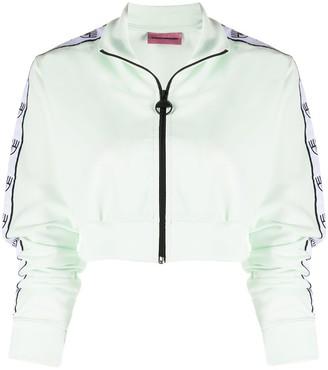 Chiara Ferragni cropped bomber jacket