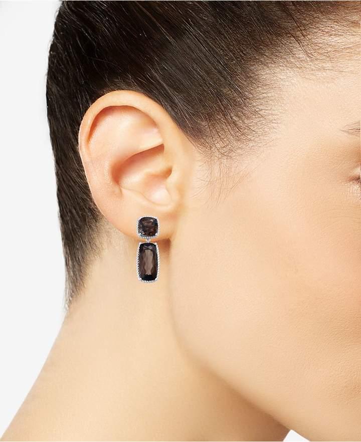 Macy's Smoky Quartz Drop Earrings (14 ct. t.w.) in Sterling Silver