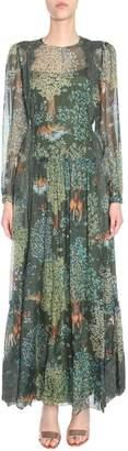 Alberta Ferretti Sheer Embellished Dress