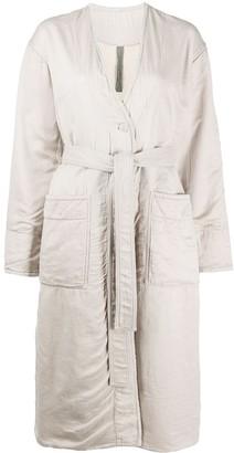 Raquel Allegra Tie Waist Midi Coat