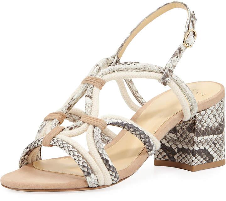 Alexandre Birman Giovanna Strappy Python Rope Sandal