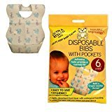 Baby Toddler Disposable Bibs with pocket Hygenic Easy to use Travel Holidays ETC by Beautiful Beginnings