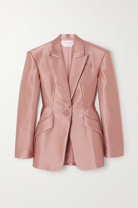 Alexander McQueen - Duchesse Silk-satin Blazer - Blush
