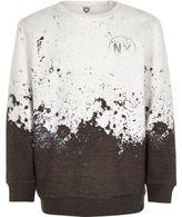 River Island Boys white paint splatter sweatshirt