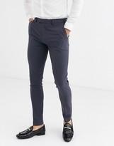Asos Design DESIGN super skinny suit trousers in black slate