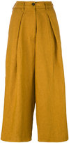 Forte Forte high-waisted cropped trousers - women - Linen/Flax - III