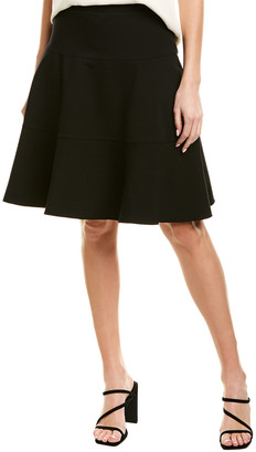 Three Dots Ponte Seamed A-Line Skirt